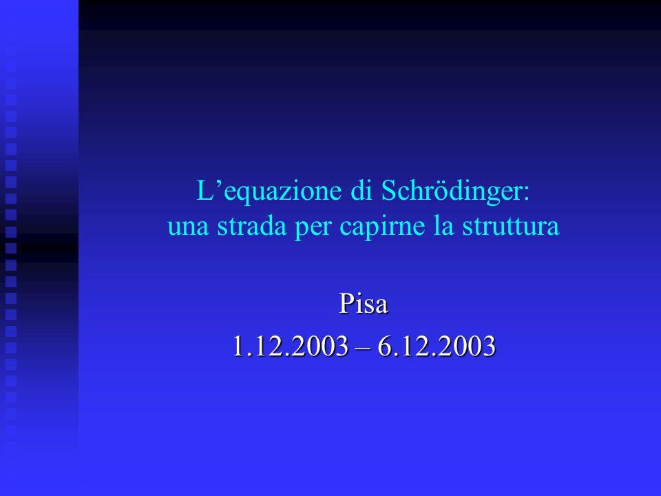 L'equazione di Schrödinger: una strada per capirne la struttura