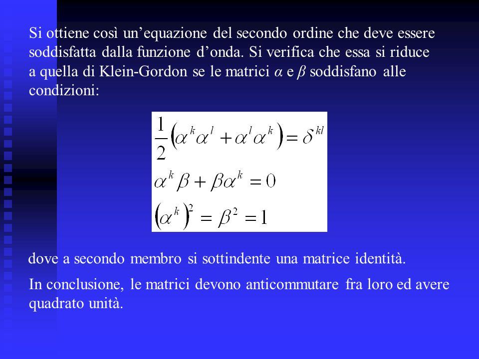 Si ottiene così un'equazione del secondo ordine che deve essere