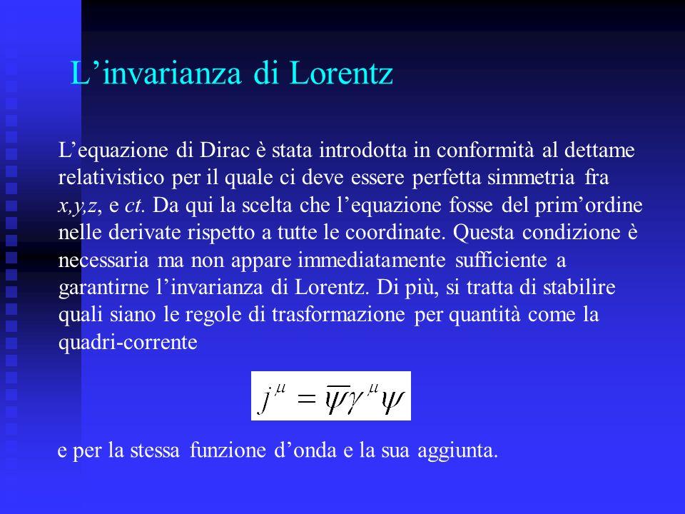 L'invarianza di Lorentz