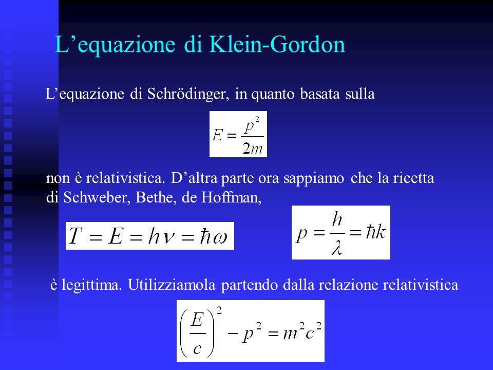 L'equazione di Klein-Gordon
