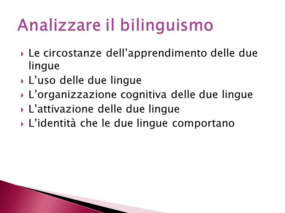Analizzare il bilinguismo