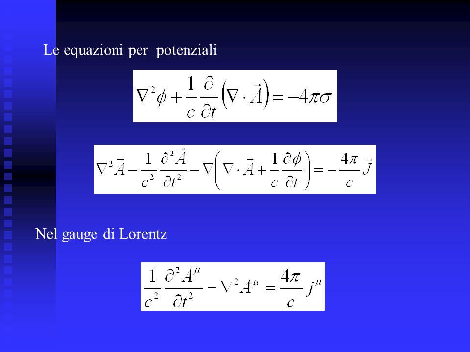 Le equazioni per potenziali