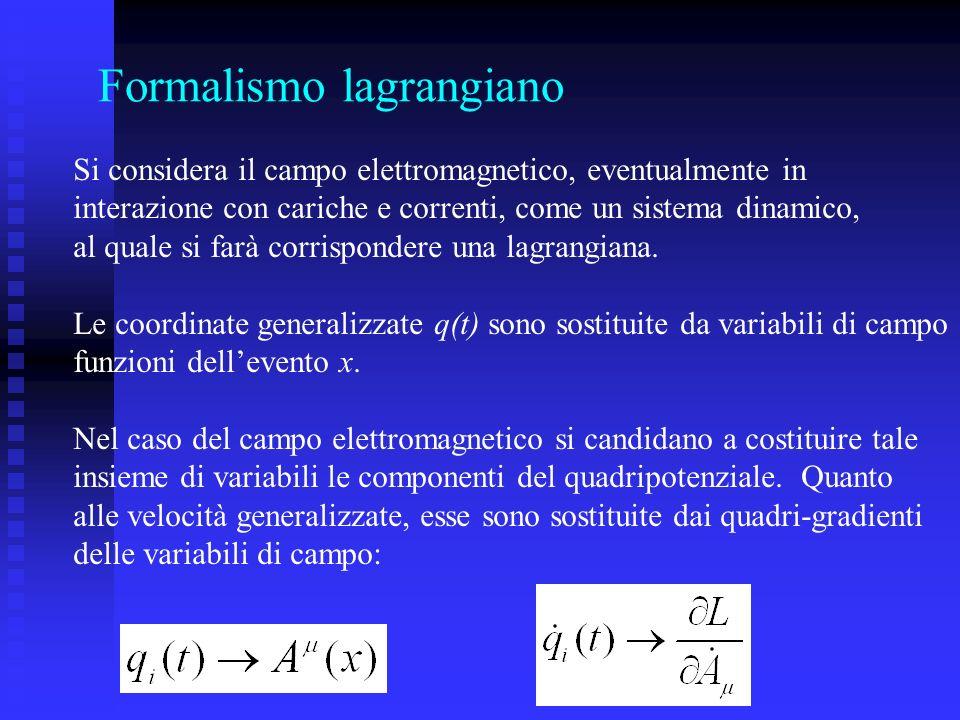 Formalismo lagrangiano
