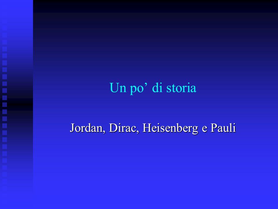 Jordan, Dirac, Heisenberg e Pauli