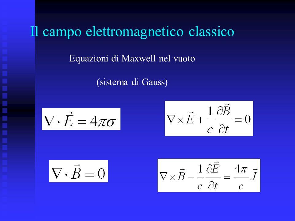 Il campo elettromagnetico classico