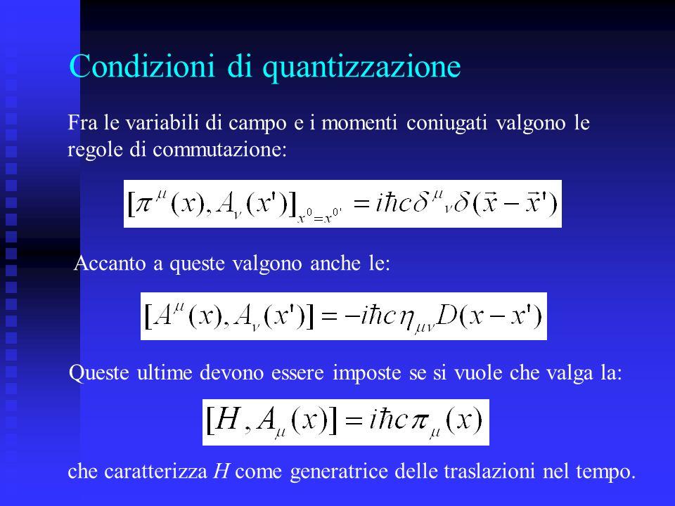 Condizioni di quantizzazione