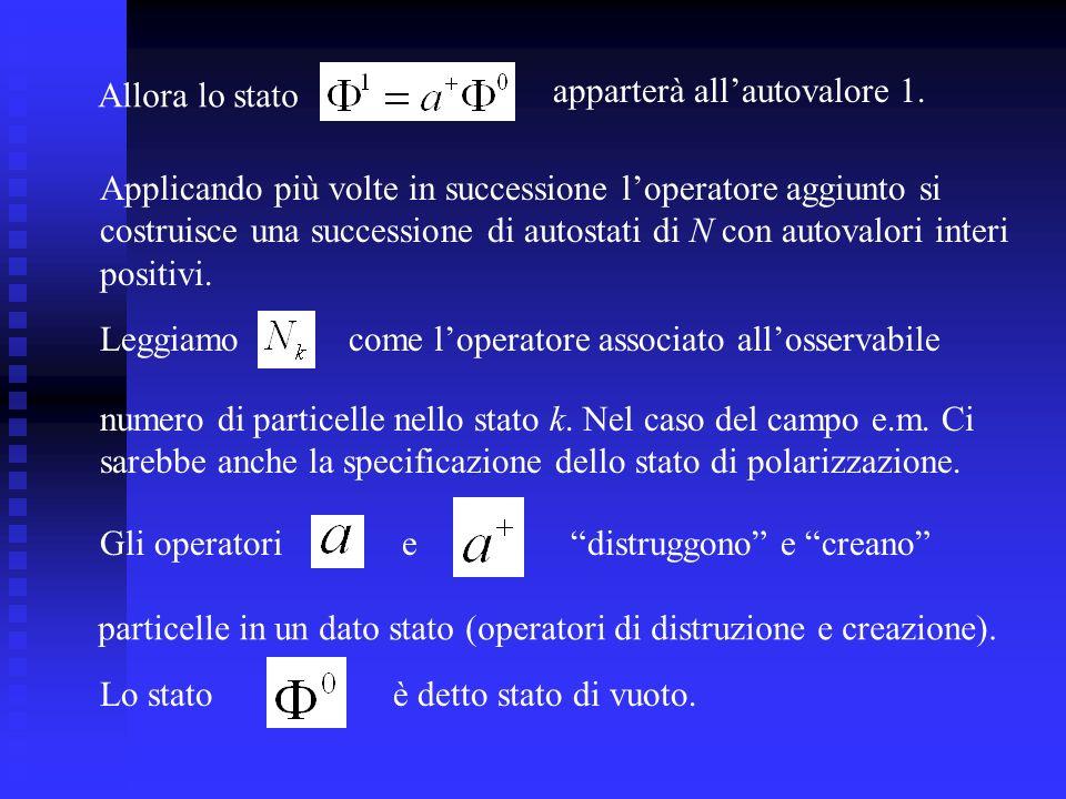 Allora lo stato apparterà all'autovalore 1. Applicando più volte in successione l'operatore aggiunto si.