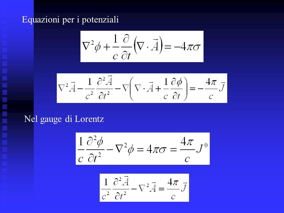 Equazioni per i potenziali