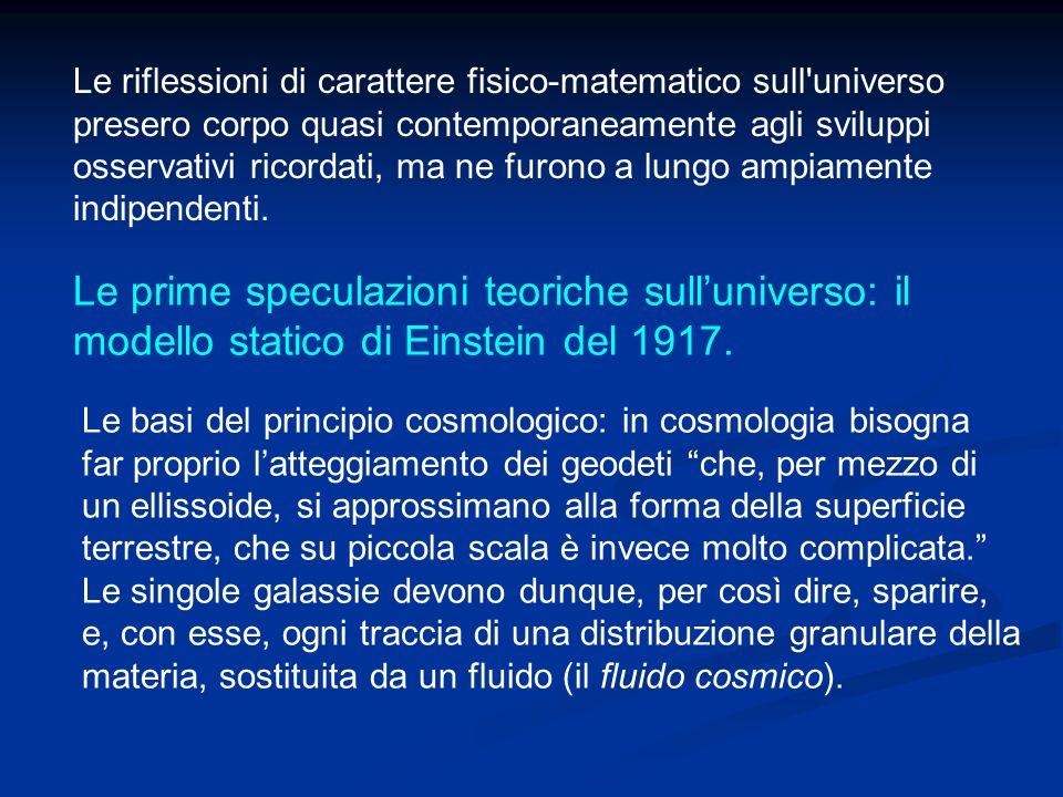 Le prime speculazioni teoriche sull'universo: il
