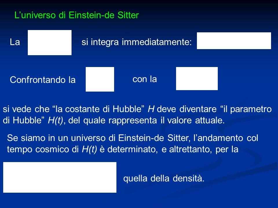 L'universo di Einstein-de Sitter
