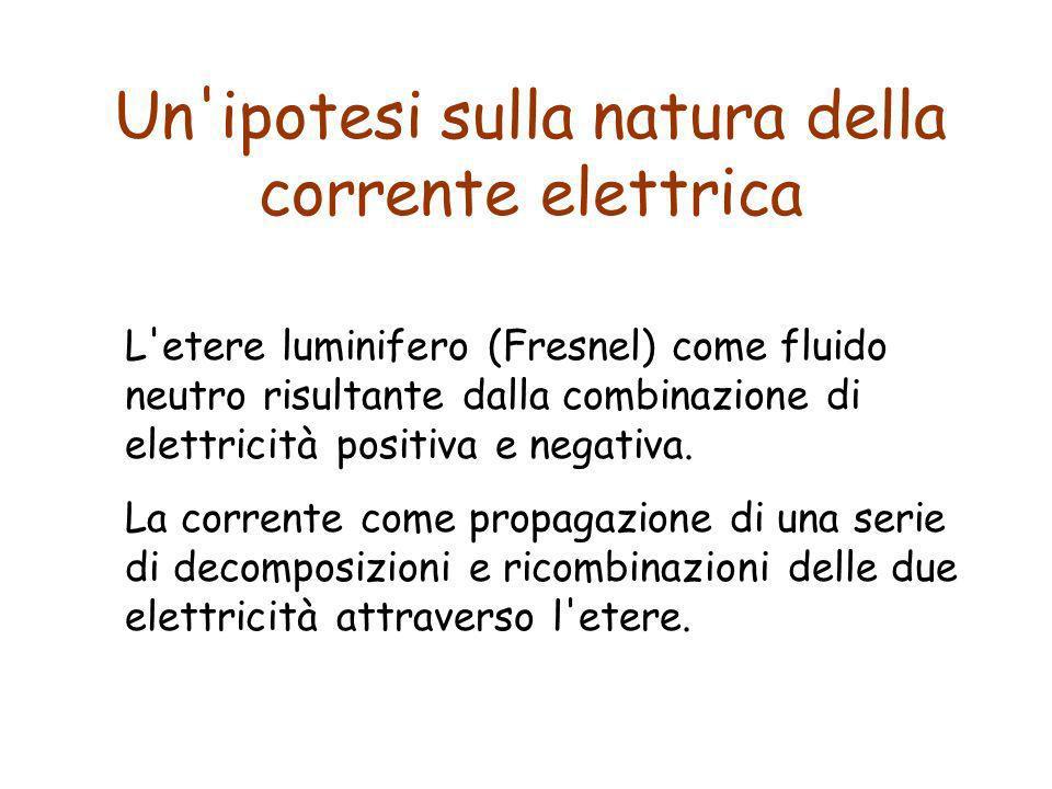 Un ipotesi sulla natura della corrente elettrica