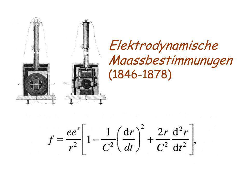 Elektrodynamische Maassbestimmunugen (1846-1878)