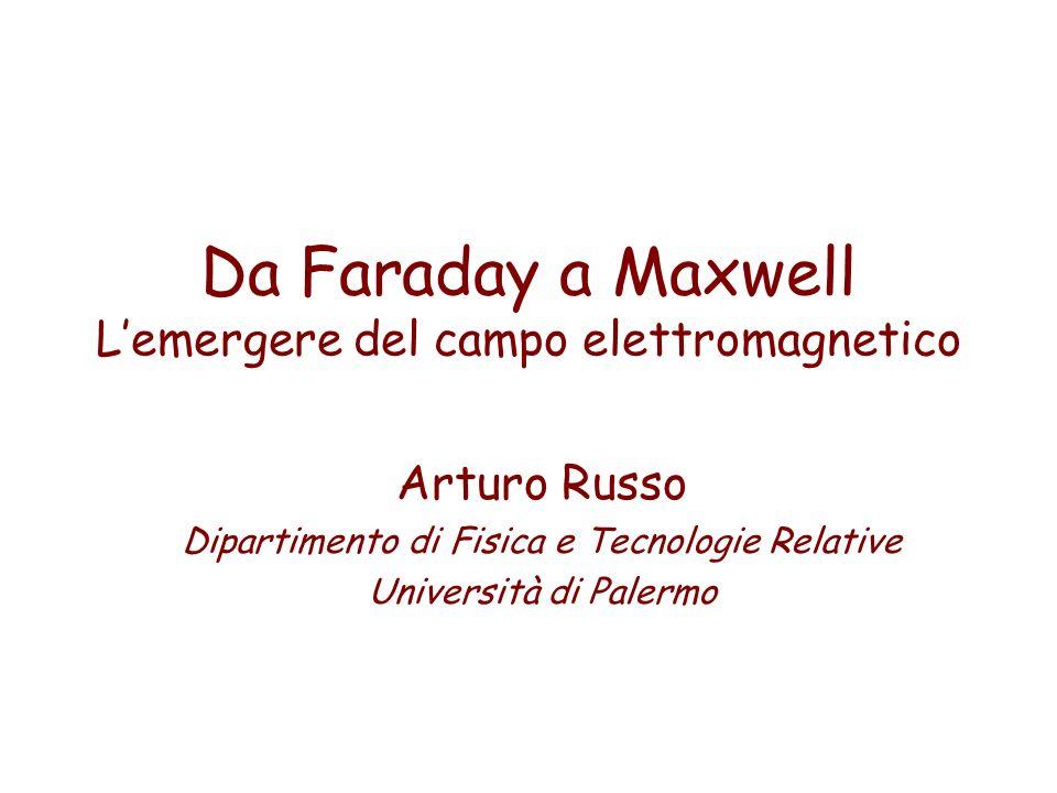 Da Faraday a Maxwell L'emergere del campo elettromagnetico