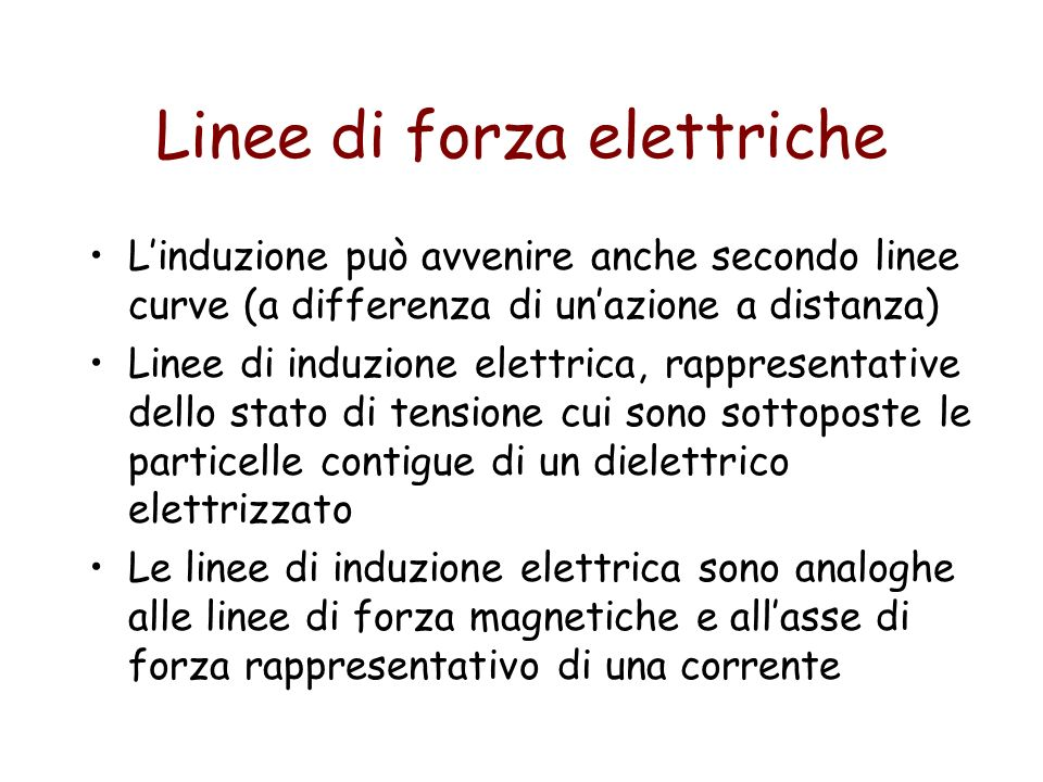 Linee di forza elettriche