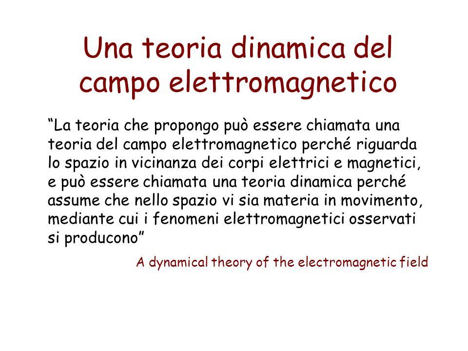 Una teoria dinamica del campo elettromagnetico