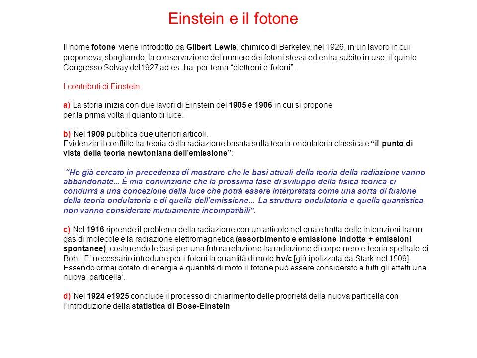 Einstein e il fotone