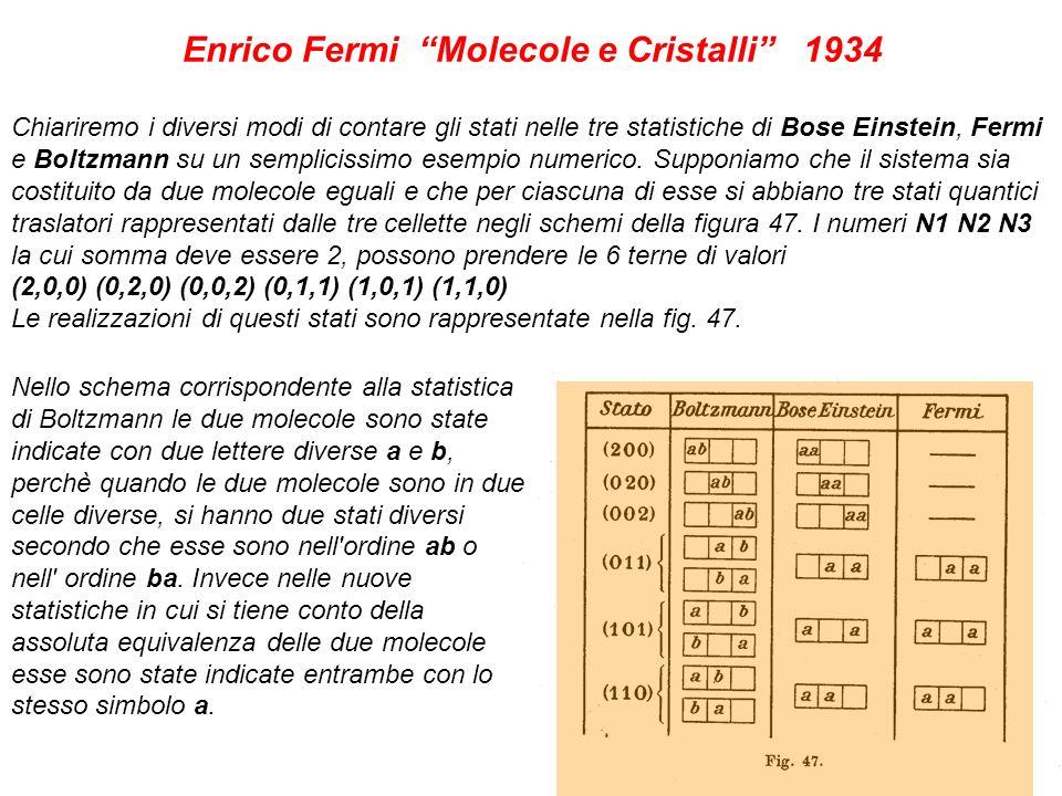 Enrico Fermi Molecole e Cristalli 1934