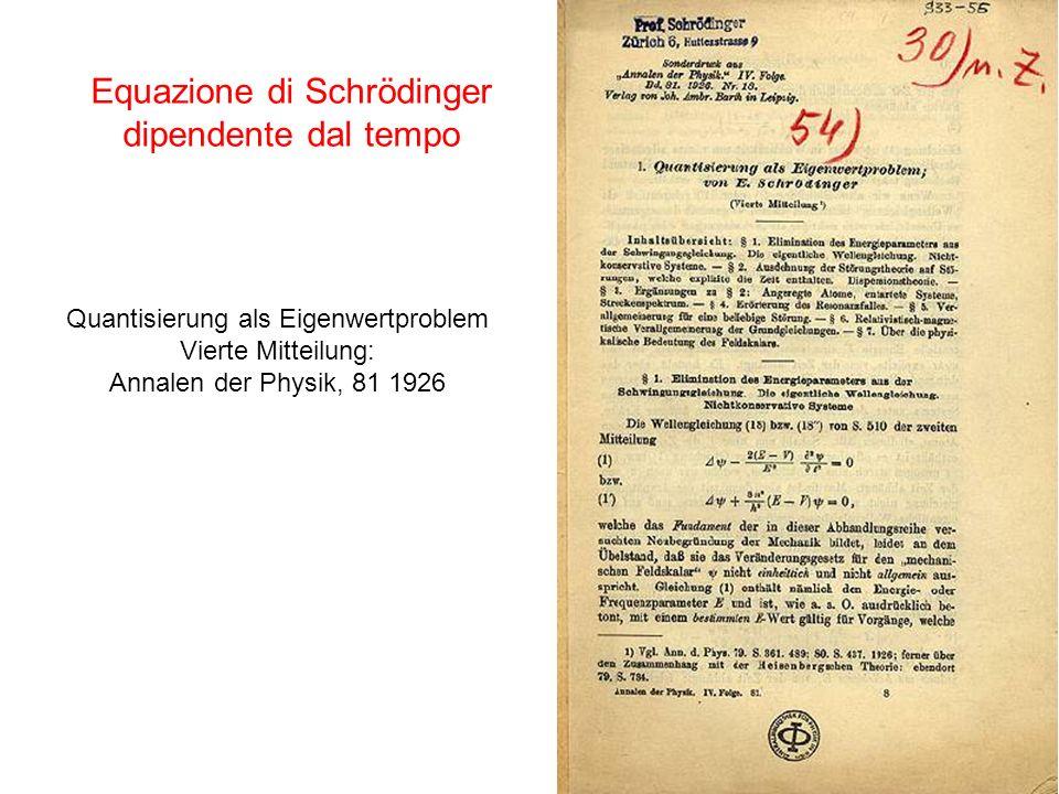 Equazione di Schrödinger dipendente dal tempo