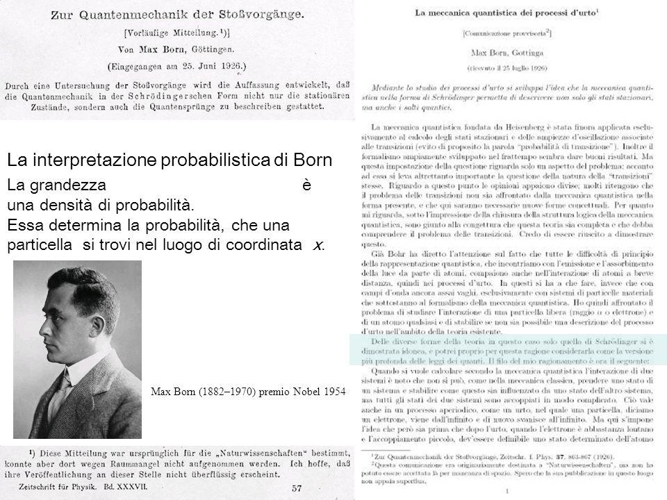 La interpretazione probabilistica di Born