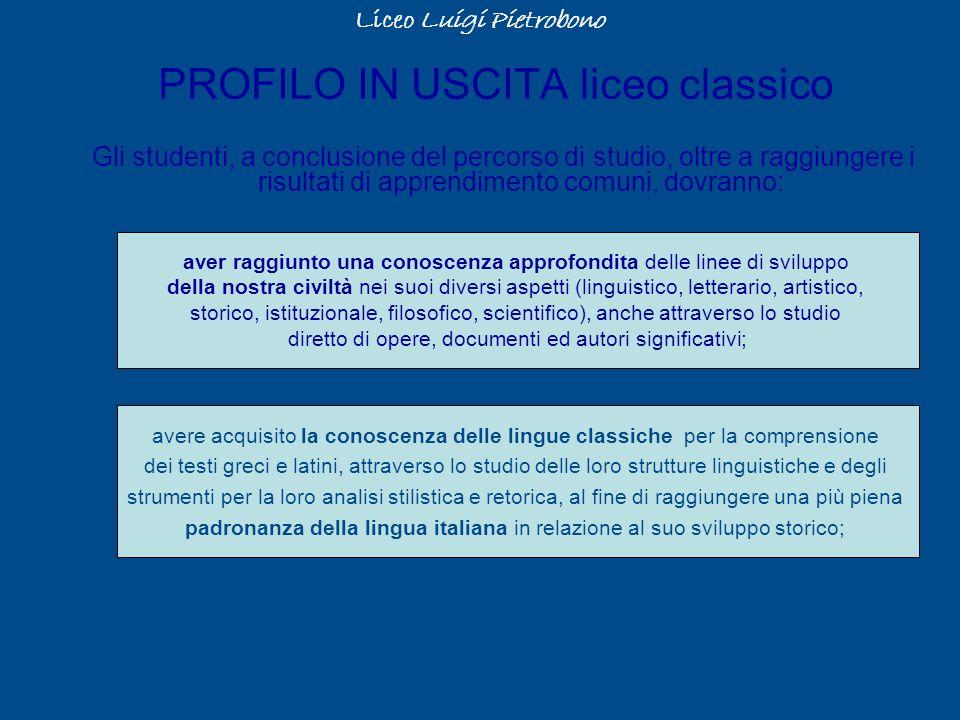 PROFILO IN USCITA liceo classico