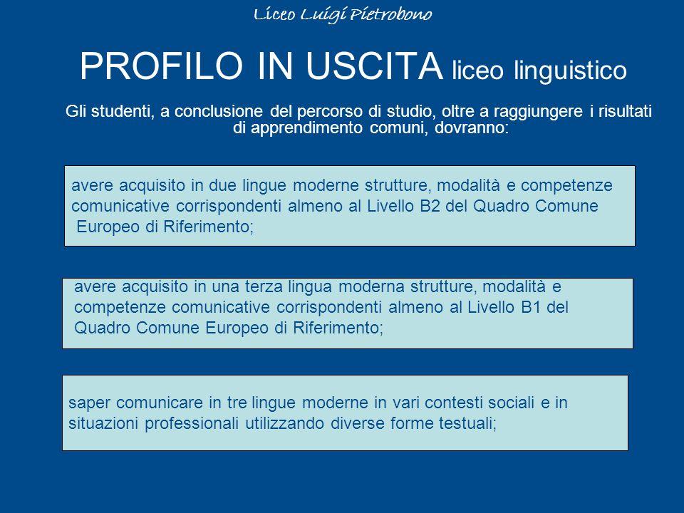 PROFILO IN USCITA liceo linguistico