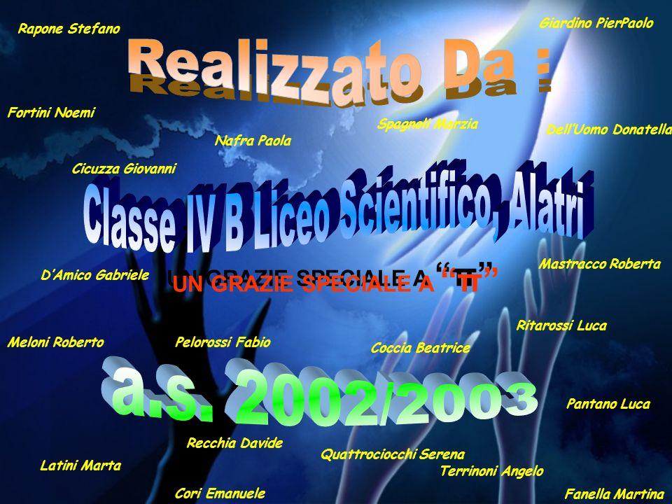 Realizzato Da : Classe IV B Liceo Scientifico, Alatri a.s. 2002/2003