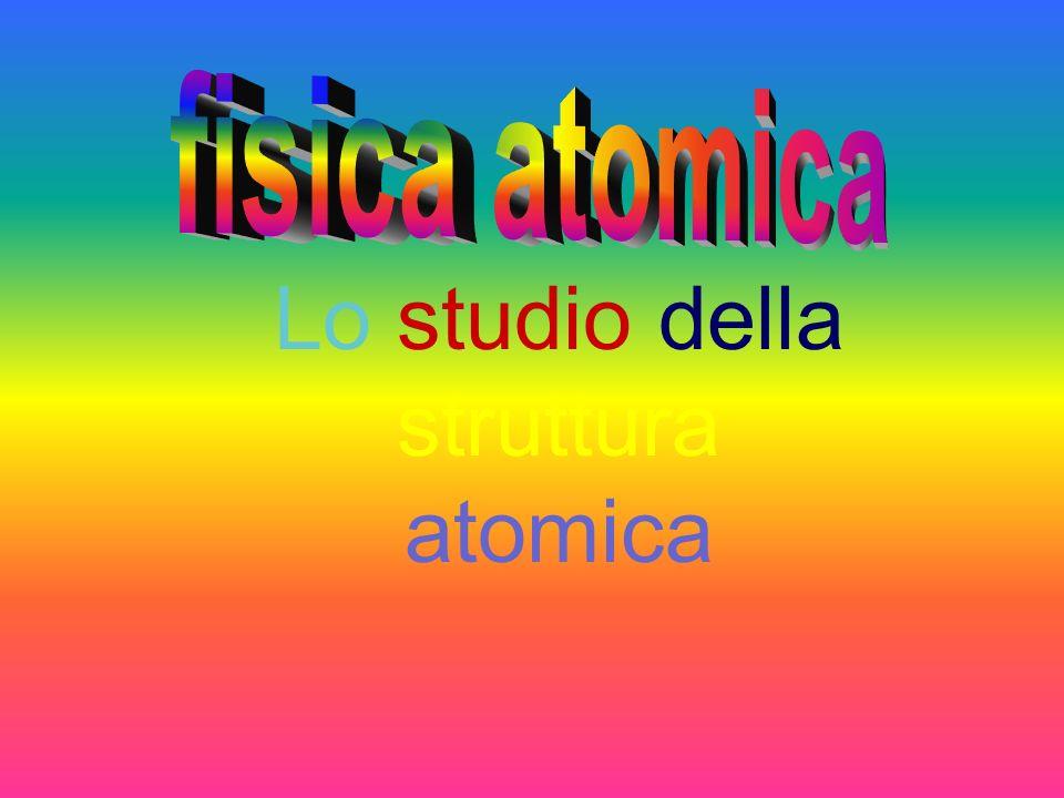 Lo studio della struttura atomica