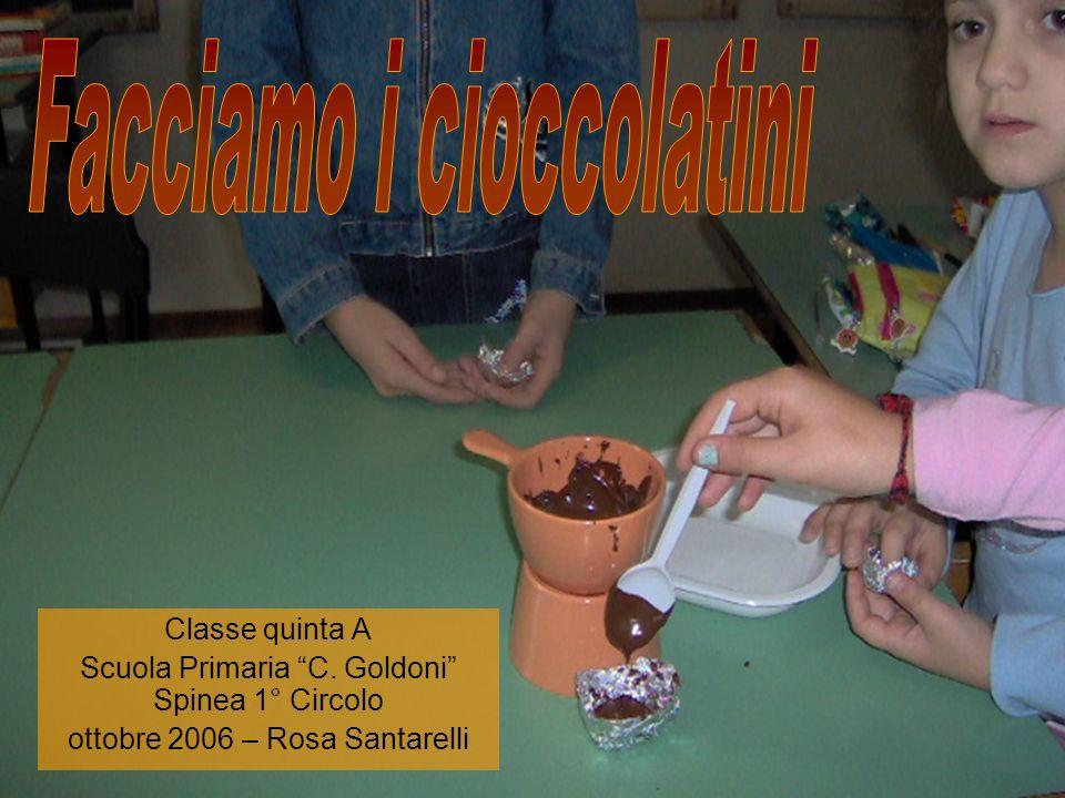 Facciamo i cioccolatini