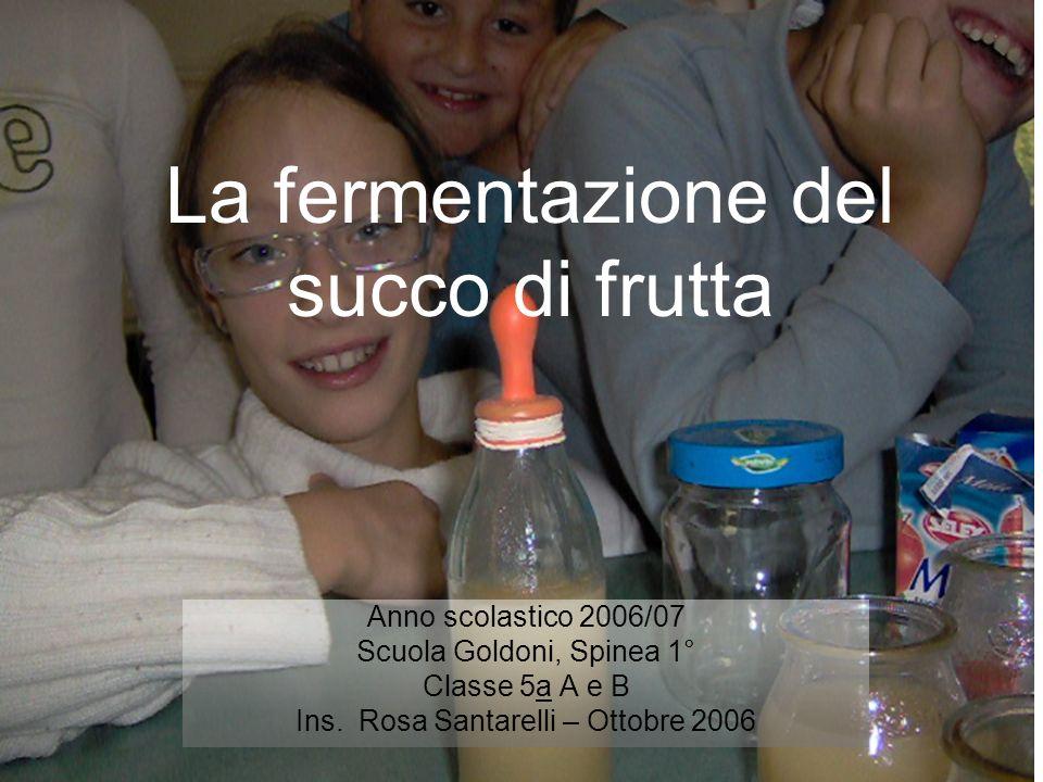 La fermentazione del succo di frutta