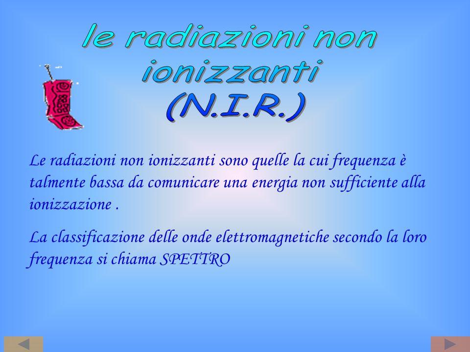 le radiazioni non ionizzanti (N.I.R.)