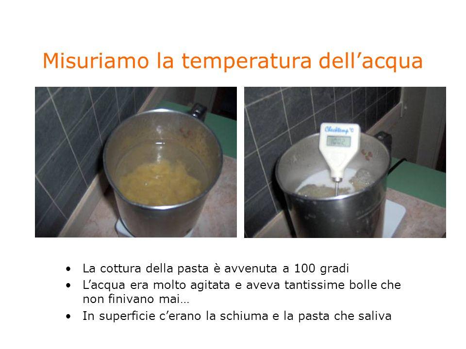 Misuriamo la temperatura dell'acqua
