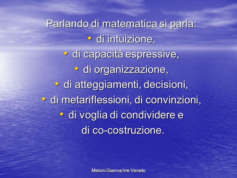 Parlando di matematica si parla: di intuizione,