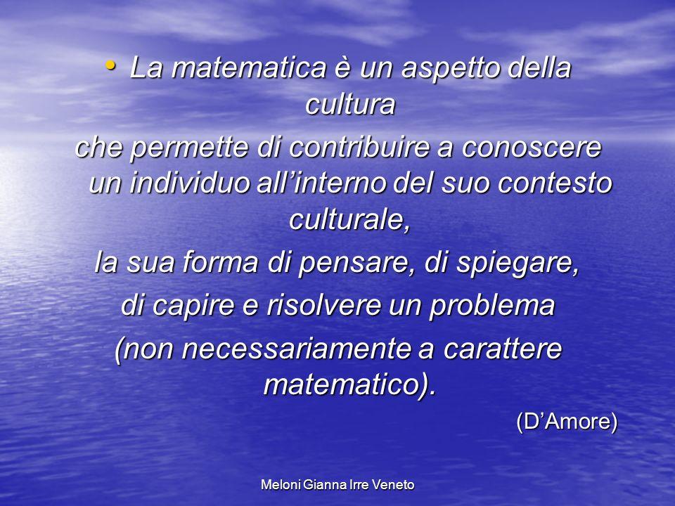 La matematica è un aspetto della cultura