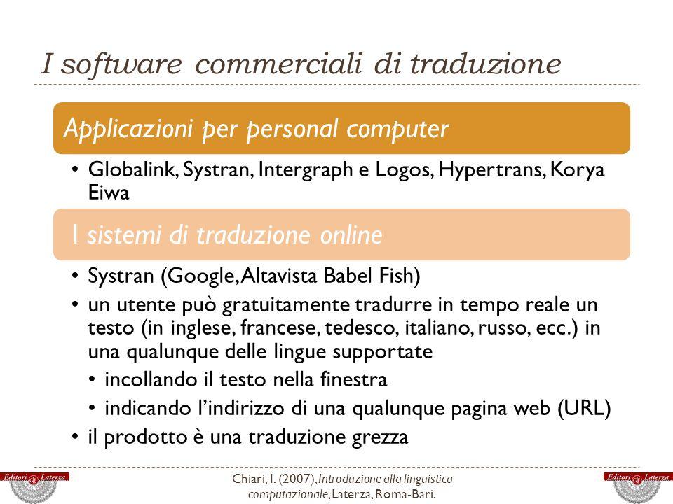 I software commerciali di traduzione