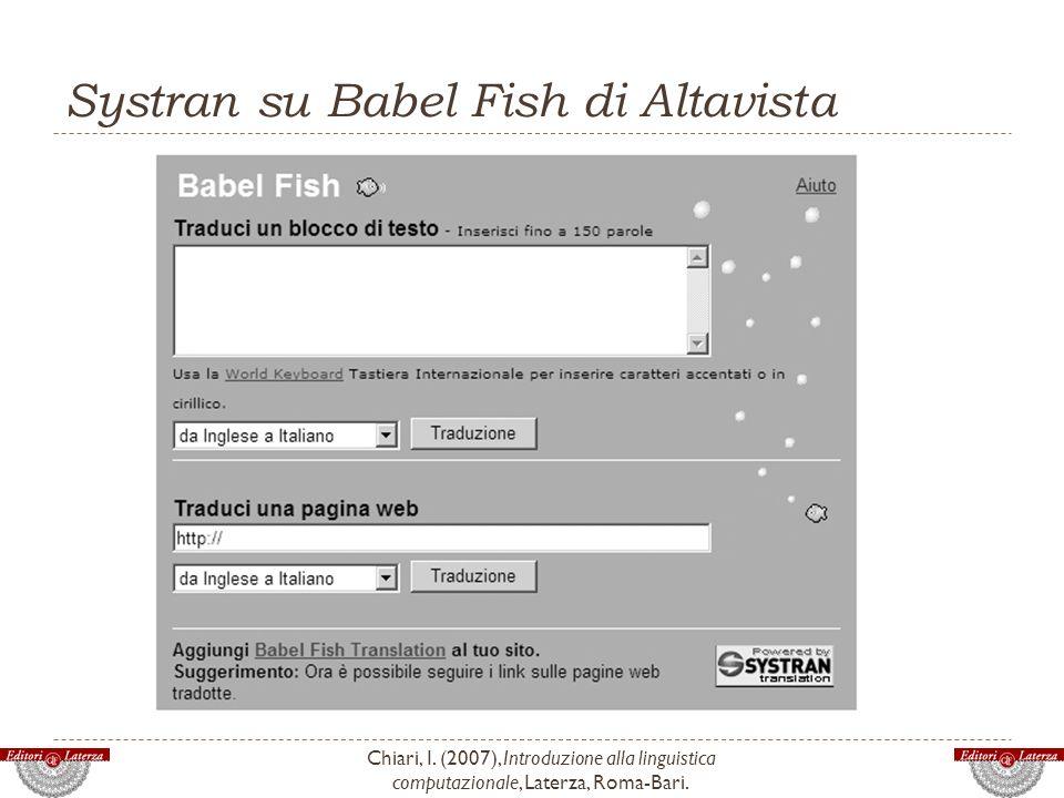 Systran su Babel Fish di Altavista