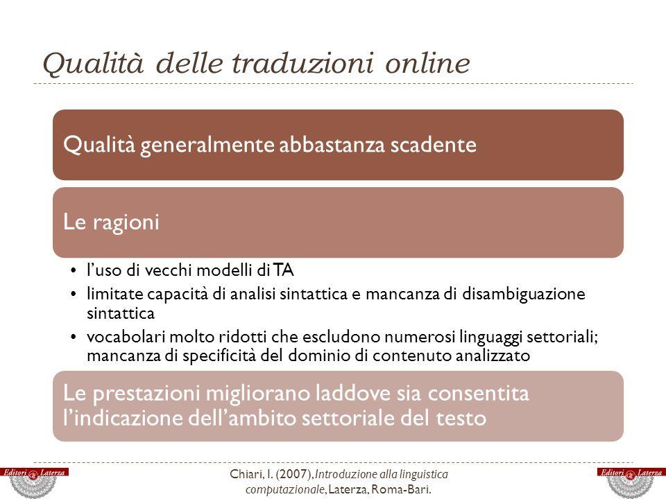 Qualità delle traduzioni online
