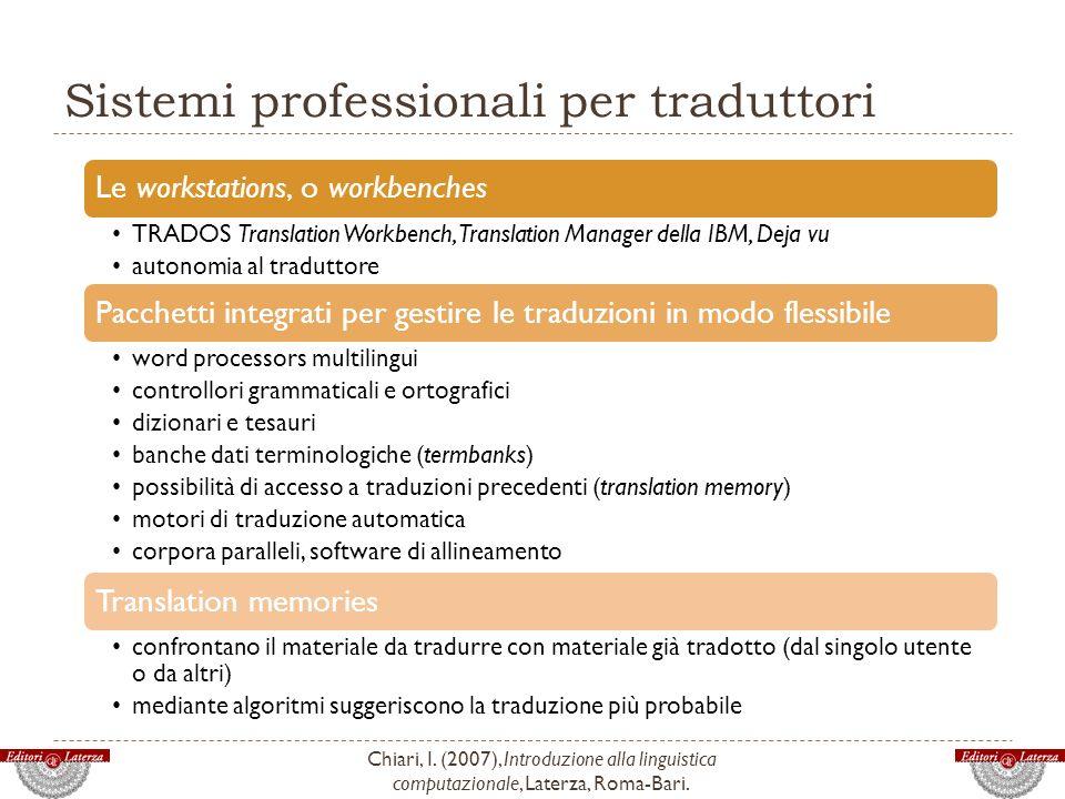 Sistemi professionali per traduttori