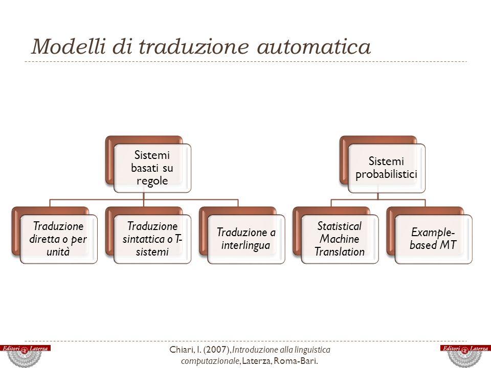 Modelli di traduzione automatica