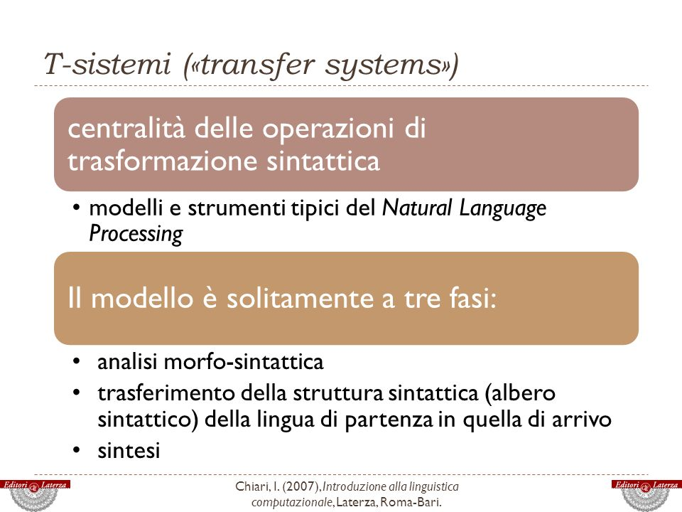 T-sistemi («transfer systems»)