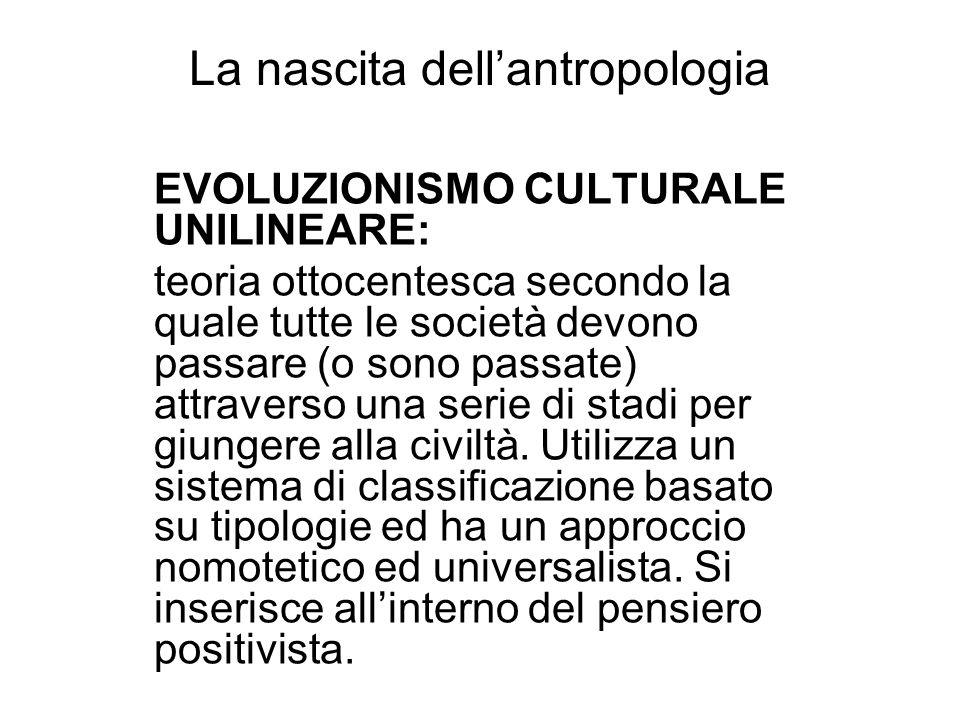 La nascita dell'antropologia