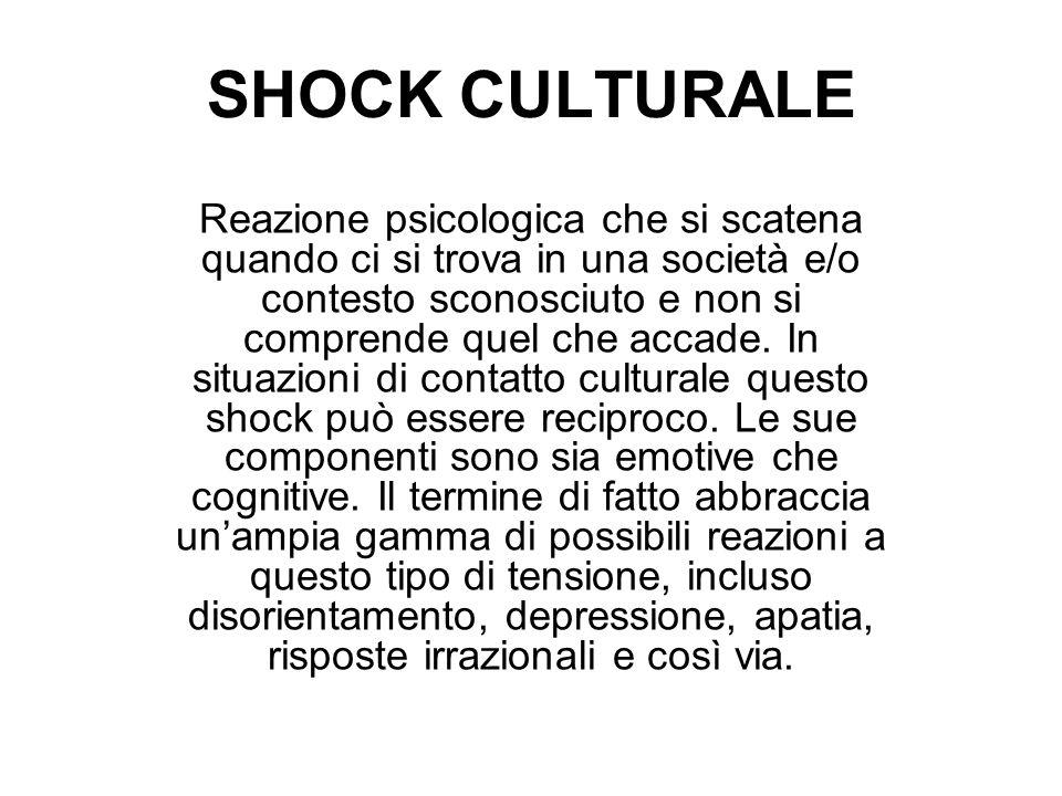 SHOCK CULTURALE