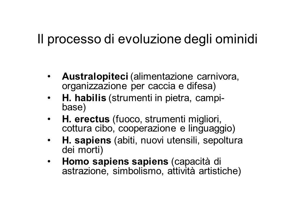 Il processo di evoluzione degli ominidi