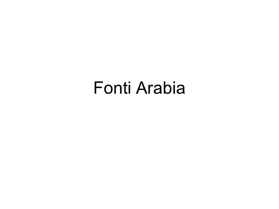Fonti Arabia