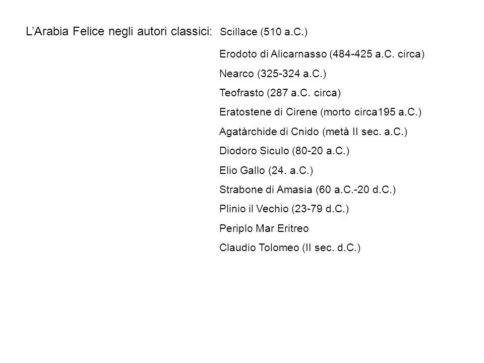 L'Arabia Felice negli autori classici: Scillace (510 a.C.)