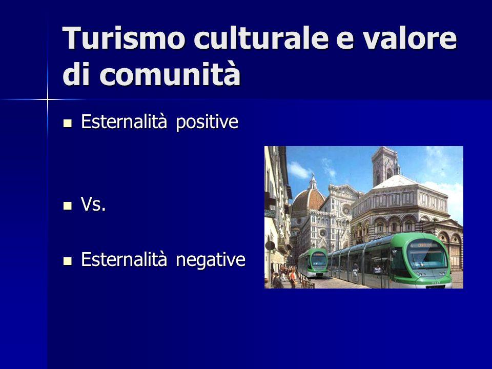 Turismo culturale e valore di comunità