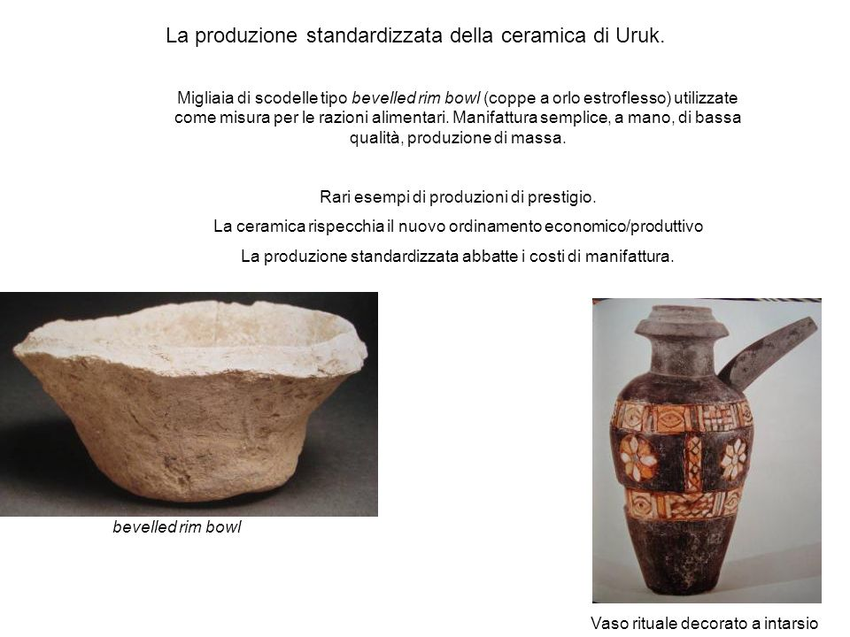 La produzione standardizzata della ceramica di Uruk.