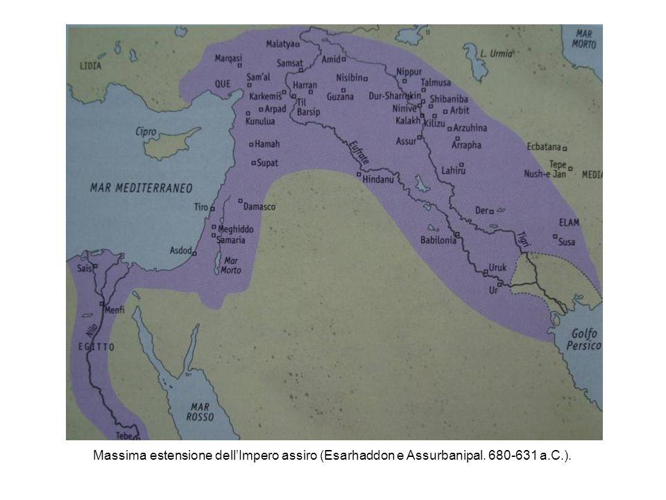 Massima estensione dell'Impero assiro (Esarhaddon e Assurbanipal