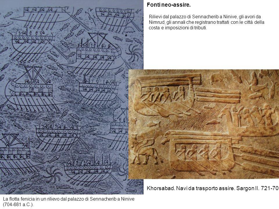 Khorsabad. Navi da trasporto assire. Sargon II. 721-705.