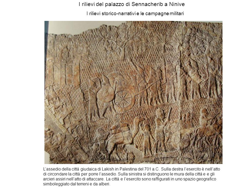 I rilievi del palazzo di Sennacherib a Ninive