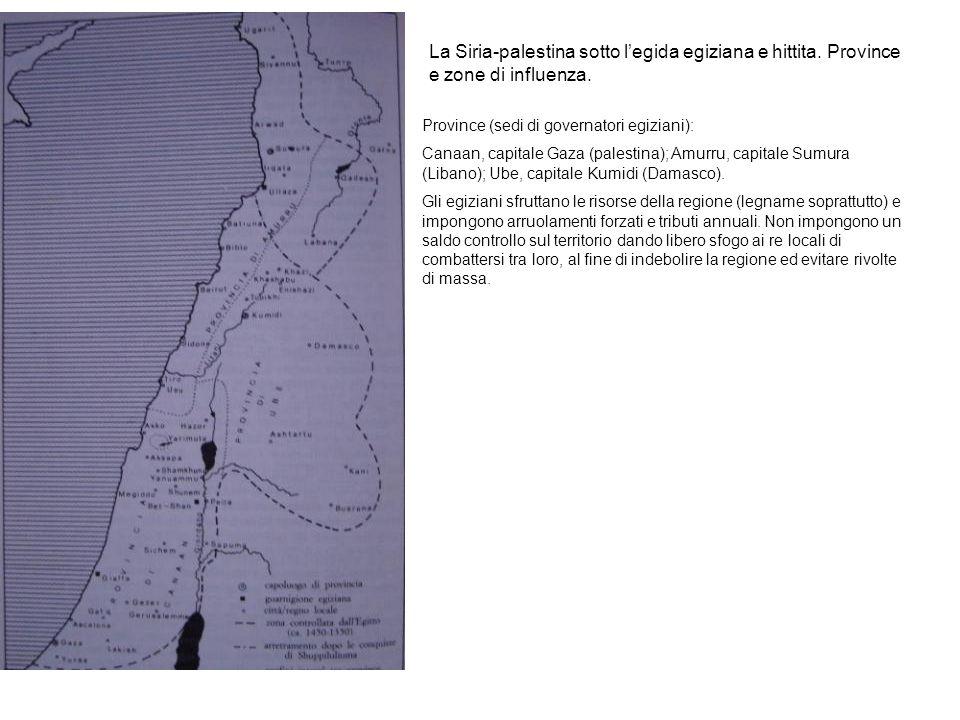La Siria-palestina sotto l'egida egiziana e hittita